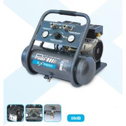 Compresseur d'air coaxial silencieux  bi-cylindre 6  L  0.75 cv  PRODIF...
