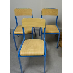Chaise scolaire bleu T6 H 48cm FONDLIGHT FL-00142M NEUVE