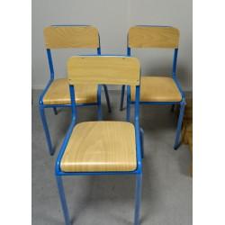 Lot de 8 chaises scolaire bleu T6 H 48cm FONDLIGHT FL-00142M NEUF