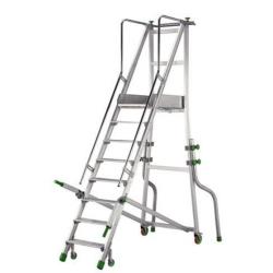 Plate forme mobile à poignées  en aluminium 9 marches hauteur travail 3.8 m...