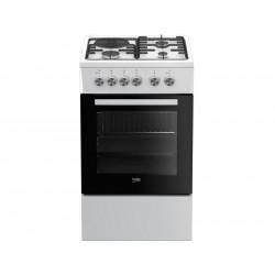 Cuisinière - Gazinière gaz mixte 4 foyers 60  L  BEKO FSS53000DW NEUVE déclassée