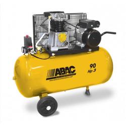Compresseur à pistons mobile monophasé bi - cylindre  90 L 10 bar 3 cv 2.2 kW...