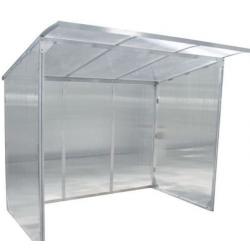 Abri pour fumeur en aluminium avec auvant 2,55x1,94x2,20m A029420 NEUF déclassé
