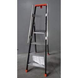 Escabeau aluminium avec rampe 4 marches - Hauteur d'accès 2,68 m A234860...