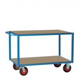 Chariot - servante 2 plateaux bois 500 kg - Roues caoutchouc FIMM A029626...