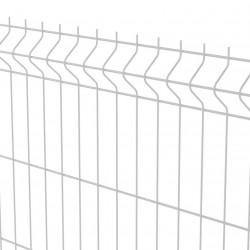 Lot 4 panneaux rigides grillagés blanc 1.20 x 2.50 m maille 200 x 55 mm NEUF...