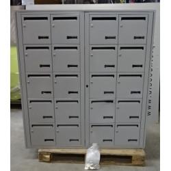 Bloc de 20 boîtes aux lettres collectives intérieures LEABOX NEUF déclassé