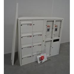 Bloc de 16 boîtes aux lettres collectives extérieur avec pieds RENZ NEUF...
