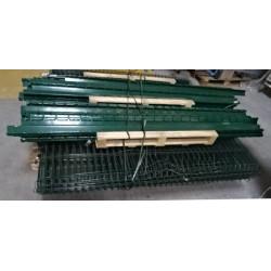 Lot 23 panneaux rigides grillagés vert 1.93 x 2 m maille 200 x 55 mm + 19...