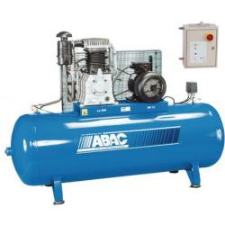Compresseur d'air  bicylindre 500 L  triphasé 10 CV débit d'air 66 m3/h avec...