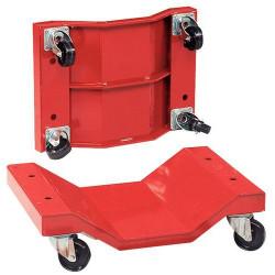 Lot de 2 plateaux rouleur pour charges longues 1000 kg - roues nylon FIMM...