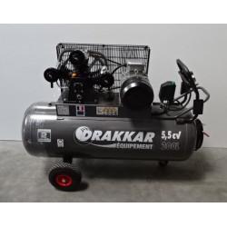 Compresseur tri-cylindre fonte en V triphasé 200 L 5,5 CV DRAKKAR NEUF déclassé