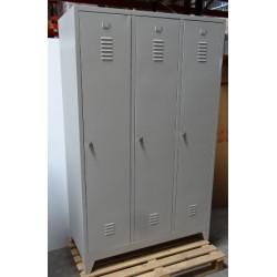 Vestiaire monobloc industrie salissante 3 cases 180x118,5x50 NEUVE déclassée