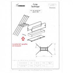 Kit de protection pour échafaudage COMABI Junior 200 - 03140908 - 03140002...
