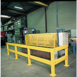 Lot de 5 pieds-supports de rail de sécurité H 500 mm NEUF déclassé