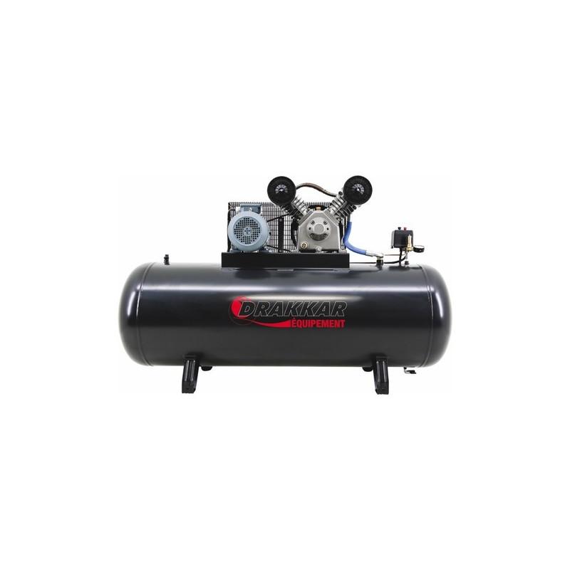compresseur  u00e0 pistons bicylindre triphas u00e9 500 l 10 cv