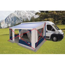 Store de camping car et fourgon aménagé 4.50 M  toile bleue FIAMMA  ZIP  F45L...
