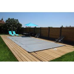 Couverture - bâche à barres opaque grise pour piscine 8.37 x 4.50 m NEUVE...