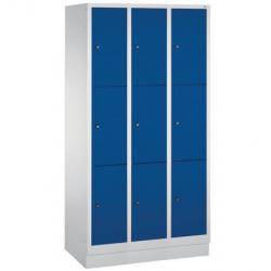 Armoire - Vestiaire 9 casiers superposés sur socle 1800 x 900 mm  CP S2000...