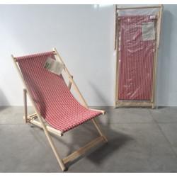 Lot de 2 chaises longues  chiliennes en bois pliante -   JARDIN PRIVE  Kelly...