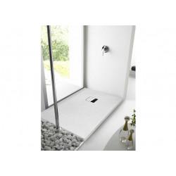 Receveur de douche  rectangulaire en résine à poser ou encastrer aspect...