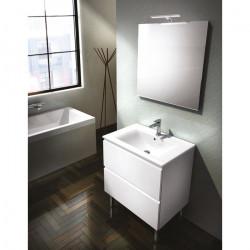 Meuble sous vasque de salle de bain 2 portes - Blanc - Largeur 70 cm GB GROUP...