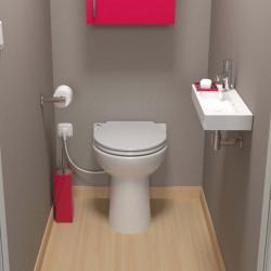 WC -  Sanibroyeur  en céramique  SFA Sanicompact 43 Silence Eco + NEUF déclassé