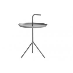Table basse  grise en acier laqué  design diamètre 38 cm HAY NEUVE