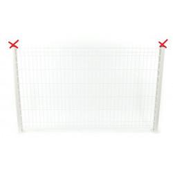 Lot de 10 panneaux rigides grillagés blanc 1,23 x 2 m + 12 poteaux 1.57 m...