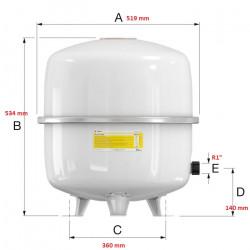 Vase d'expansion 80 L FLAMCO Flexcon Solar 16066 NEUF déclassé