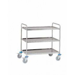 Chariot - desserte inox 3 plateaux Force 100 kg A047449 NEUF