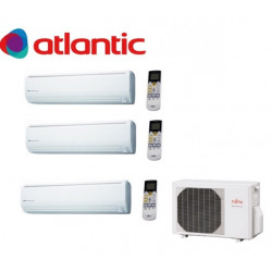 Ensemble de climatisation 3  sorties -  inverter  8 kW FUJITSU (Gpe Atlantic)...