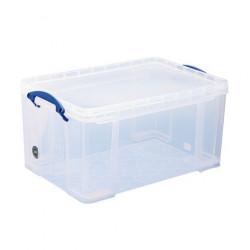 Boîte de rangement plastique empilable 48 L Really Useful Box incolore NEUVE