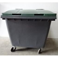 Conteneur à déchets à prises latérales 1000 L PLASTIC OMNIUM NEUVE