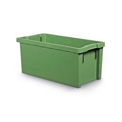 Bac gerbable emboitable vert 87 L 800x400x350 mm SCHOELLER ALLIBERT NEUF