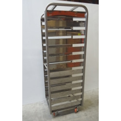 Chariot - Echelle  de boulanger en inox 13 niveaux  175 x 50 cm NEUF