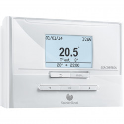 Thermostat  programmable  d'ambiance SAUNIER DUVAL  Exacontrol  E7 R C NEUF