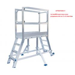 Plate forme Passerelle SOLIDE en aluminium 6 marches charge max 150 kg...