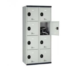 Armoire vestaire monobloc multicases  8 casiers H 180 cm L 80 cm ACIAL...