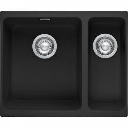 Evier de cuisine 2 cuves 46 x 55,80 cm FRANKE Kubus KBG 160 Fragranit+ Onyx...