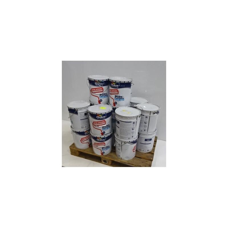Pot De 15 L De Peinture Acrylique Blanc Mat Pour Murs Et Plafonds Dulux Valentine Neuf Déclassé
