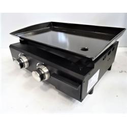 Plancha à gaz 2 feux 5 kW COOKING BOX  Brasilia 71.5657 NEUVE déclassée