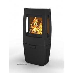 Poêle à bois 7 kW DOVRE Sense 203 box 3 cotés vitres émaillé noir brillant NEUF