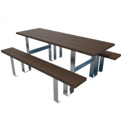 Table Banc d'extérieur de pique nique Pied acier galvanisé MANUTAN LB08087T...