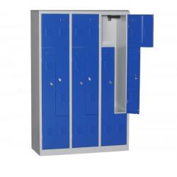Vestiaire monobloc 6 cases à portes L Fermeture cadenas 180 x 118,5 x 50 cm NEUF
