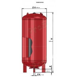 Vase expansion vertical à vessie 1000 L Zilmet T000BCOR NEUF