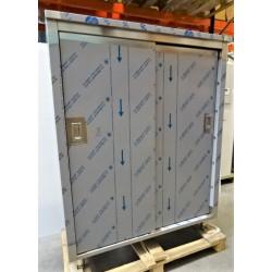 Armoire inox 2 portes coulissantes 1800x1400x60 pour les professionnels
