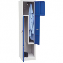 Vestiaire monobloc 2 cases portes L  Fermeture à clé  180 x 41.5 x 50 cm NEUF