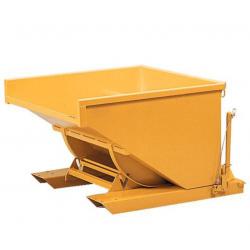 Caisse Benne autobasculante en acier sur socle Capacité 850 L Charge 1500 kg...