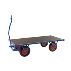 Remorque plateau charge lourde roue pneumatique -  2M - force 750 kg  A122009...